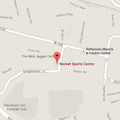 Map of Becket Sports Centre